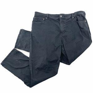 American Eagle Black slim straight chino pants 44